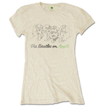 The Beatles Ladies Tee: Outline Faces on Apple