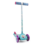 DISNEY Frozen Kid's Three Wheel Flex Scooter with Large Deck, Multi-colour