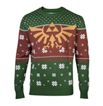 NINTENDO Legend of Zelda Golden Royal Hyrule Crest Christmas Knitted Sweater, Male, Large, Multi-colour