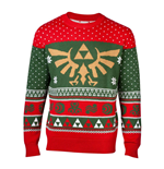 NINTENDO Legend of Zelda Royal Hyrule Crest Christmas Knitted Sweater, Male, Medium, Multi-colour