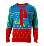 SONY Playstation Tokio Christmas Knitted Sweater, Unisex, Large, Multi-colour