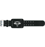 Motorhead Leather Wrist Strap: Hammered