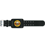 Guns N' Roses Leather Wrist Strap: Bullet Logo