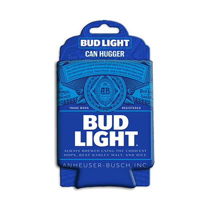 BUD LIGHT Blue Can Cooler