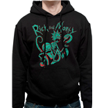 Rick And Morty - Neon - Unisex Hooded Sweatshirt Black
