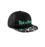 Rick And Morty - Logo Mineral Wash Snapback - Headwear Black