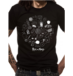 Rick And Morty - Icons - Unisex T-shirt Black