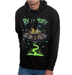 Rick And Morty - Space - Unisex Hooded Sweatshirt Black