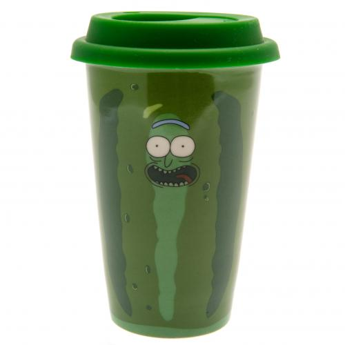 Rick And Morty Ceramic Travel Mug Pickle Rick