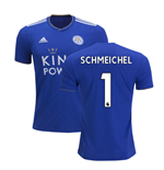 2018-2019 Leicester City Puma Home Football Shirt (Schmeichel 1)