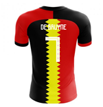 2018-2019 Belgium Flag Concept Football Shirt (De Bruyne 7)