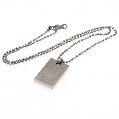 Manchester City F.C. Dog Tag & Chain EC