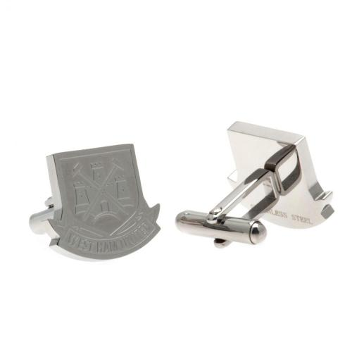 West Ham United F.C. Stainless Steel Cufflinks CR CT