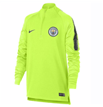 2018-2019 Man City Nike Squad Drill Training Top (Volt) - Kids