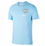 2018-2019 Man City Nike Evergreen Crest Tee (Sky)