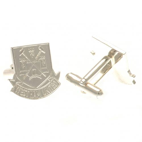 West Ham United F.C. Silver Plated Cufflinks CR CT