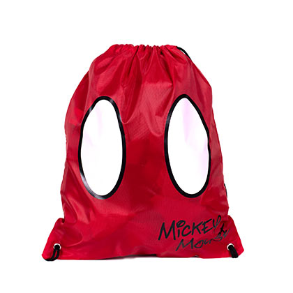 Mickey Mouse Red Shorts Drawstring Bag