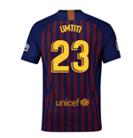 2018-2019 Barcelona Home Nike Football Shirt (Umtiti 23) - Kids
