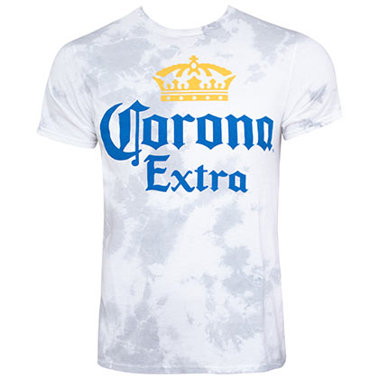 Corona Logo Grey Faded Tee Shirt