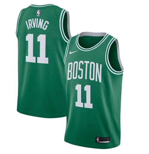 Men's Boston Celtics Kyrie Irving Nike Kelly Green Icon Edition Swingman Jersey