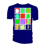 Doctor Who Men's Tee: Silhouette Grid Multi Blue