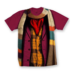 Doctor Who Ladies Tee: 4 Doctors Band