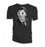 Doctor Who Men's Tee: 10th Doctor 3D Glasses