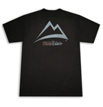 COORS Light Mountain Outline Black Graphic T-Shirt