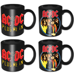 AC/DC 4 Piece Mini Mug Set: Devil Angus & Plug Me In (Individually Boxed)