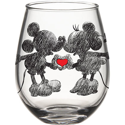 Mickey And Minnie 20 Ounce Stemless Wine Glass