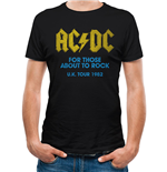 AC/DC - For Those About To Rock - Logo - Unisex T-shirt Black