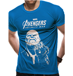 The Avengers Infinity War - Thanos Line Logo - Unisex T-shirt Blue