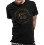 Lord Of The Rings - Gold Metallic Logo - Unisex T-shirt Black