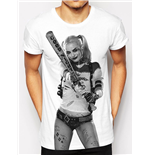 Suicide Squad - Hq Bat Sublimated - Unisex T-shirt White