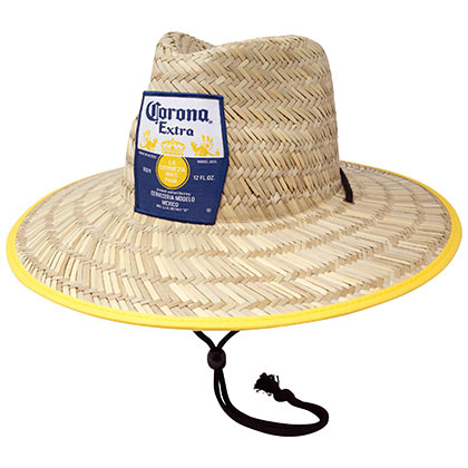 CORONA EXTRA Straw Lifeguard Beach Hat
