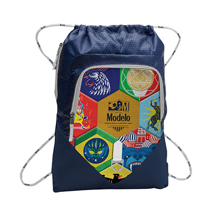Modelo Soccer Cinch Navy Blue Backpack