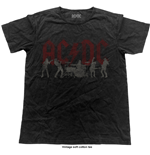 AC/DC Men's Fashion Tee: Silhouettes (Vintage Finish)