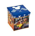 DISNEY-Mickey Roadster Racers Textile Stool - Storage Bin 30  x 30  x 30 cm