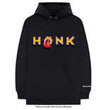 The Rolling Stones Unisex Pullover Hoodie: Honk Letters (Cuff Print)