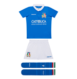 2018-2019 Italy Macron Home Rugby Mini Kit