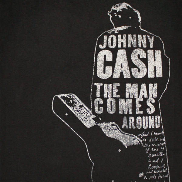 Official Johnny Cash Man Comes Around Tee Shirt Buy Online On Offer