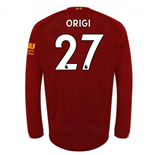 2019-2020 Liverpool Home Long Sleeve Shirt (Origi 27)