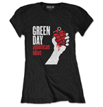 Green Day Ladies Tee: American Idiot
