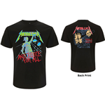 Metallica Unisex Tee: And Justice For All (Original) (Back Print)