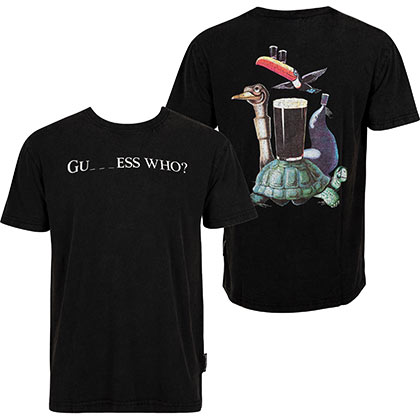 GUINNESS Guess Who? Black Tee Shirt
