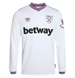 2019-2020 West Ham Long Sleeve Away Football Shirt