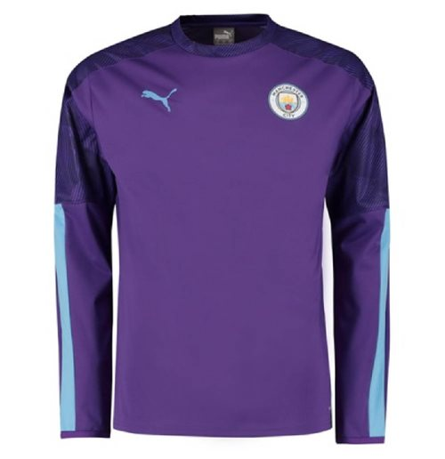 2019-2020 Manchester City Puma Training Rain Top (Purple)