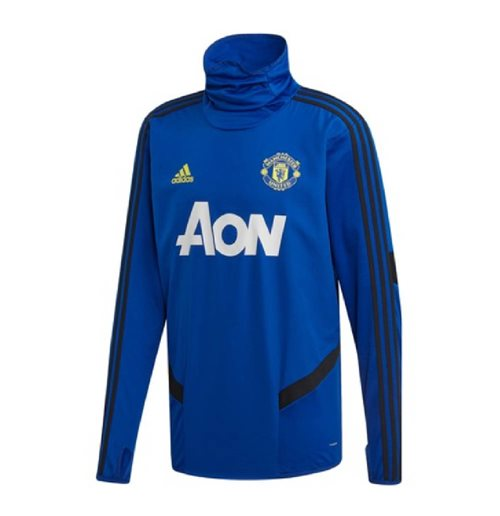 2019-2020 Man Utd Adidas Warm Top (Blue)