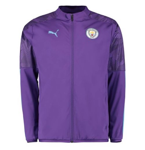 2019-2020 Manchester City Puma Woven Jacket (Purple)