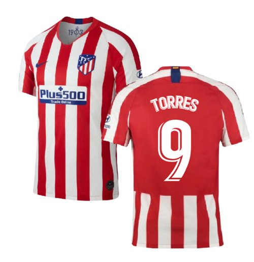 2019-2020 Atletico Madrid Home Nike Shirt (Kids) (TORRES 9)